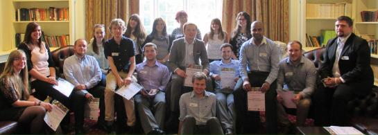 A  group photo of the Summer 2014 GoWales Graduate Academy, including myself.